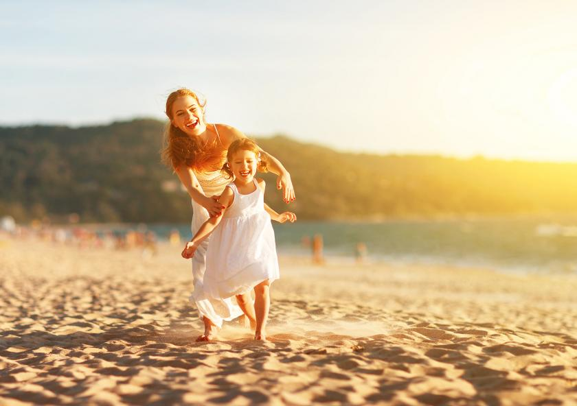 plage famille corse