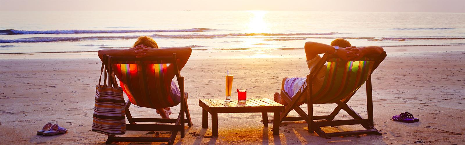Couple plage corse