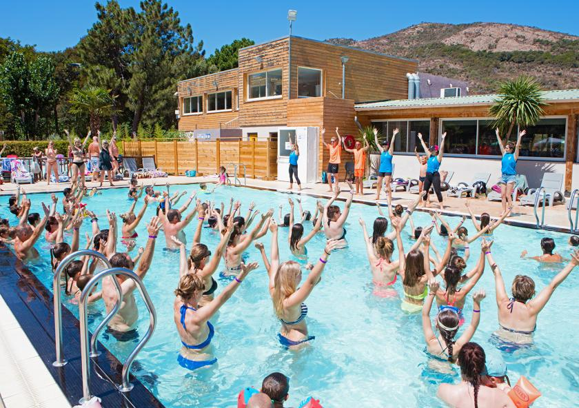 gym aquatique camping sagone
